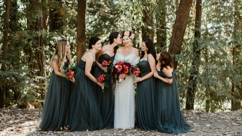 Gorgeous Greenery And Eucalyptus Tulle Make For A Enchanting Redwood Forest Wedding