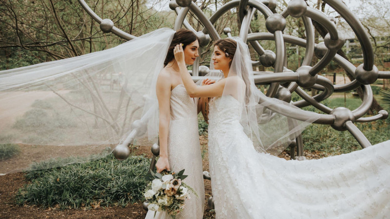 """2 Brides Are Better Than 1: Saying """"Yes"""" To The Dresses"""
