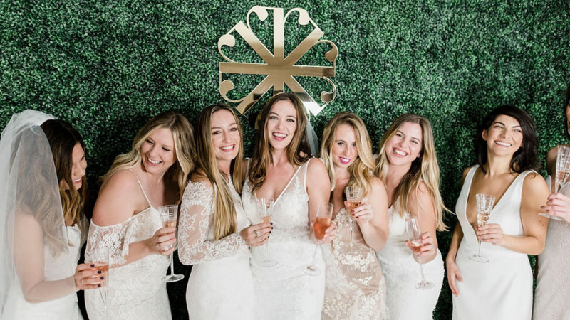 Revelry's Founder, Michelle, Hosted A Wedding Dress Try-On Party Out Of Your Pinterest Dreams