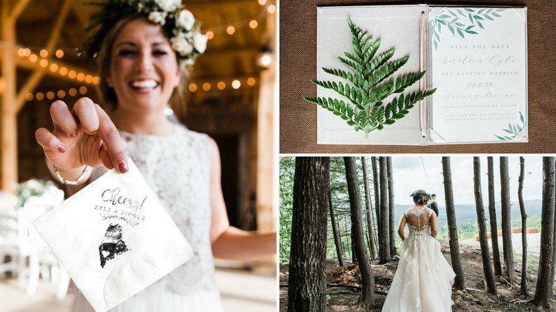 The Mountains are Calling: Boho Wedding in Forest of Maine
