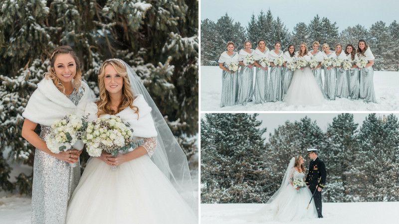 Silver Sequins + Snow: The Winter Wedding Brides Dream About!