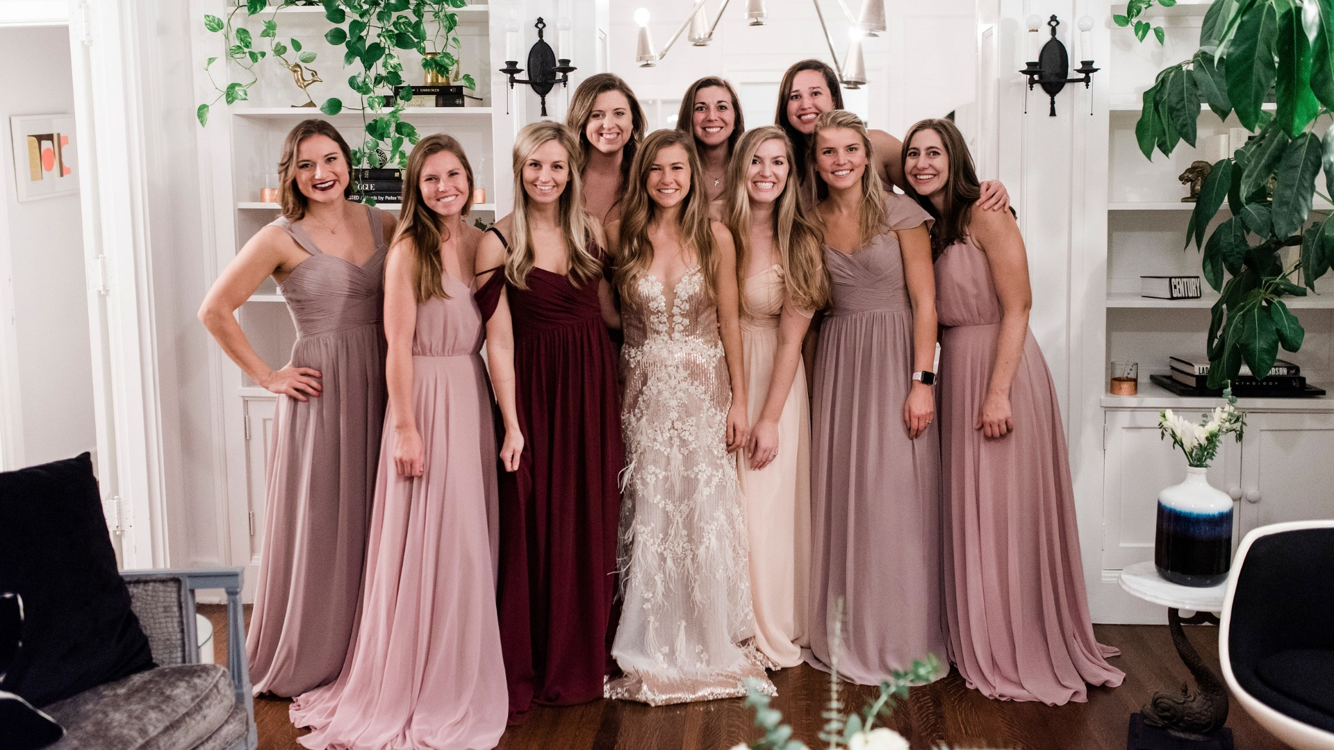 This Wedding Dress Tryon Party Is Changing How Both Brides And Bridesmaids Say I Do Revelry: S Burgundy Wedding Dresses At Websimilar.org