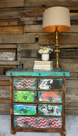 Vintage Paper Side Table
