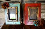 Caja De Amor Memory Box in Turquoise & Red