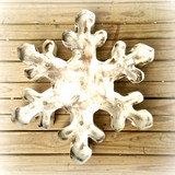 Snowflake Metal Marquee in White