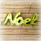 Noel Metal Marquee in Lime