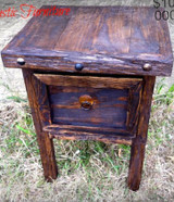 Vintage Mini Side Table in Dark Walnut Stain