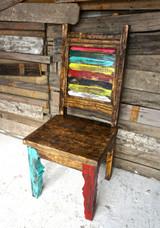 Zarape Shutter Dining Chair| Sofia's Rustic Furniture