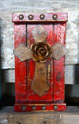 Crucecita Wall Art in Red