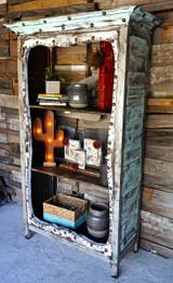 Miranda Bookcase in Shabby (Side View)