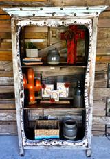 Miranda Bookcase in Shabby (Front View)