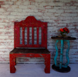 Pricilla Carved Bench