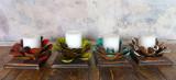 Florecita candle holder set of 4