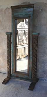Santa Cruz Mirror- Turquoise & Walnut