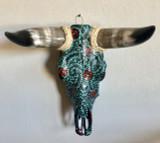 Toro Floreado Cow Skull