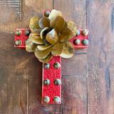 Tooled leather Mini Cross