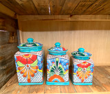 Hand painted Talavera Canister Set of 3