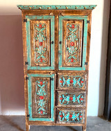 Artesia Hand Carved Storage Cabinet