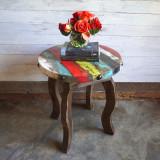 Zarape Round Side Table