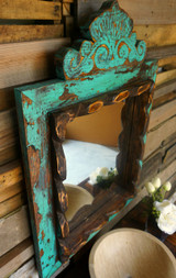 Agave Vanity Mirror in Turquoise