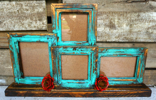Gabriela 4 Frame in Turquoise
