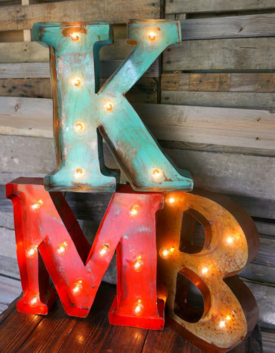 """18"""" Metal Marquee Letters"""