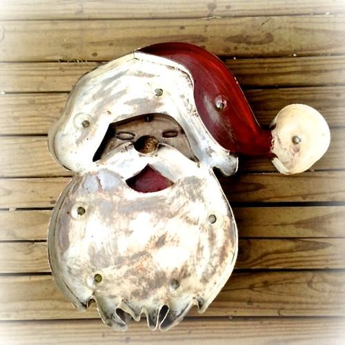 Santa Claus Metal Marquee