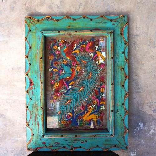 Framed Hand Painted Folk Art