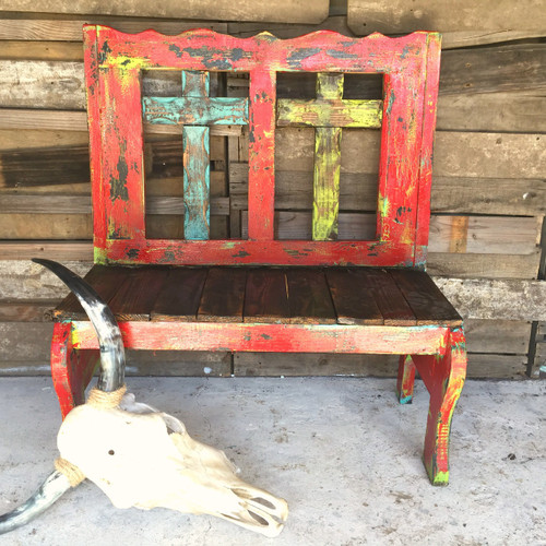 Red Fiesta Tajo 2 Cross Bench