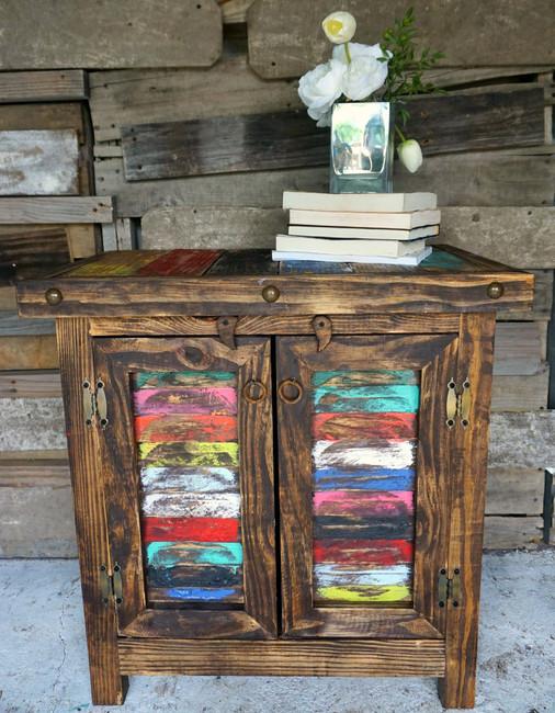 Zarape Shutter Side Table