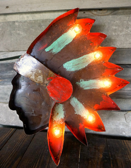 Indian Chief Metal Marquee