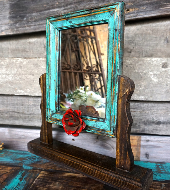 Senorita Swing Mirror in Turquoise