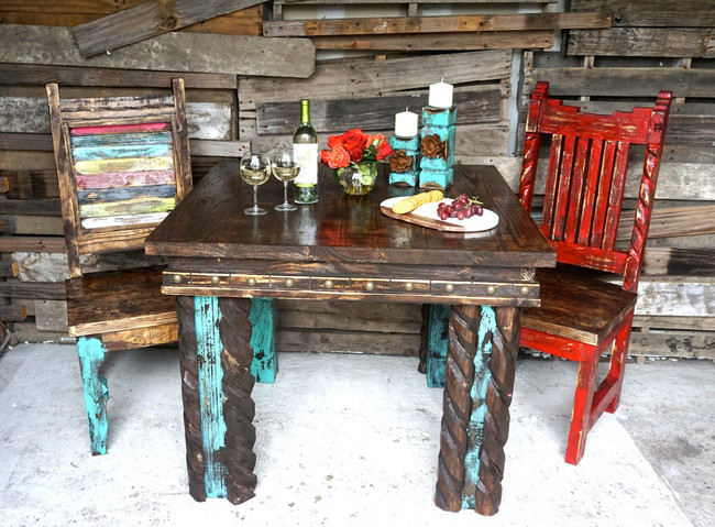Tejas Rustic Dining Table Set