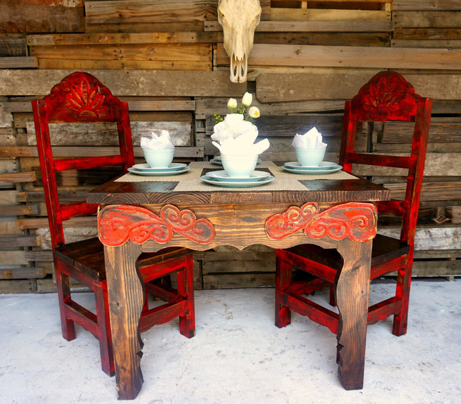 Red Agave 4 Seating Dinning Set