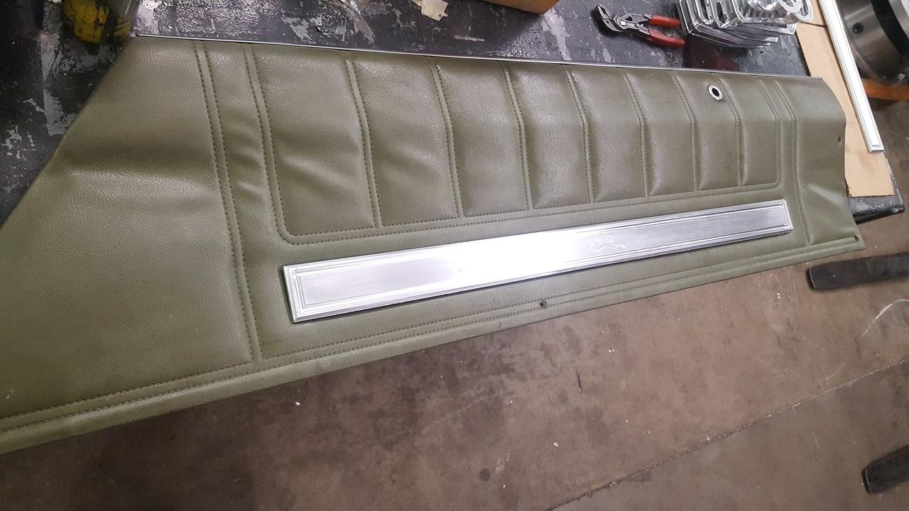 1971 - 1976 Impala 2 Door Upper Door Panel Trim