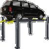 BENDPAK HD-7P 7,000-lb. Capacity Short Runways Extra-Tall Four Post Car Lift