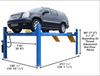 Atlas® 414A Commercial Grade 4 Post Alignment Lift 14,000 lbs
