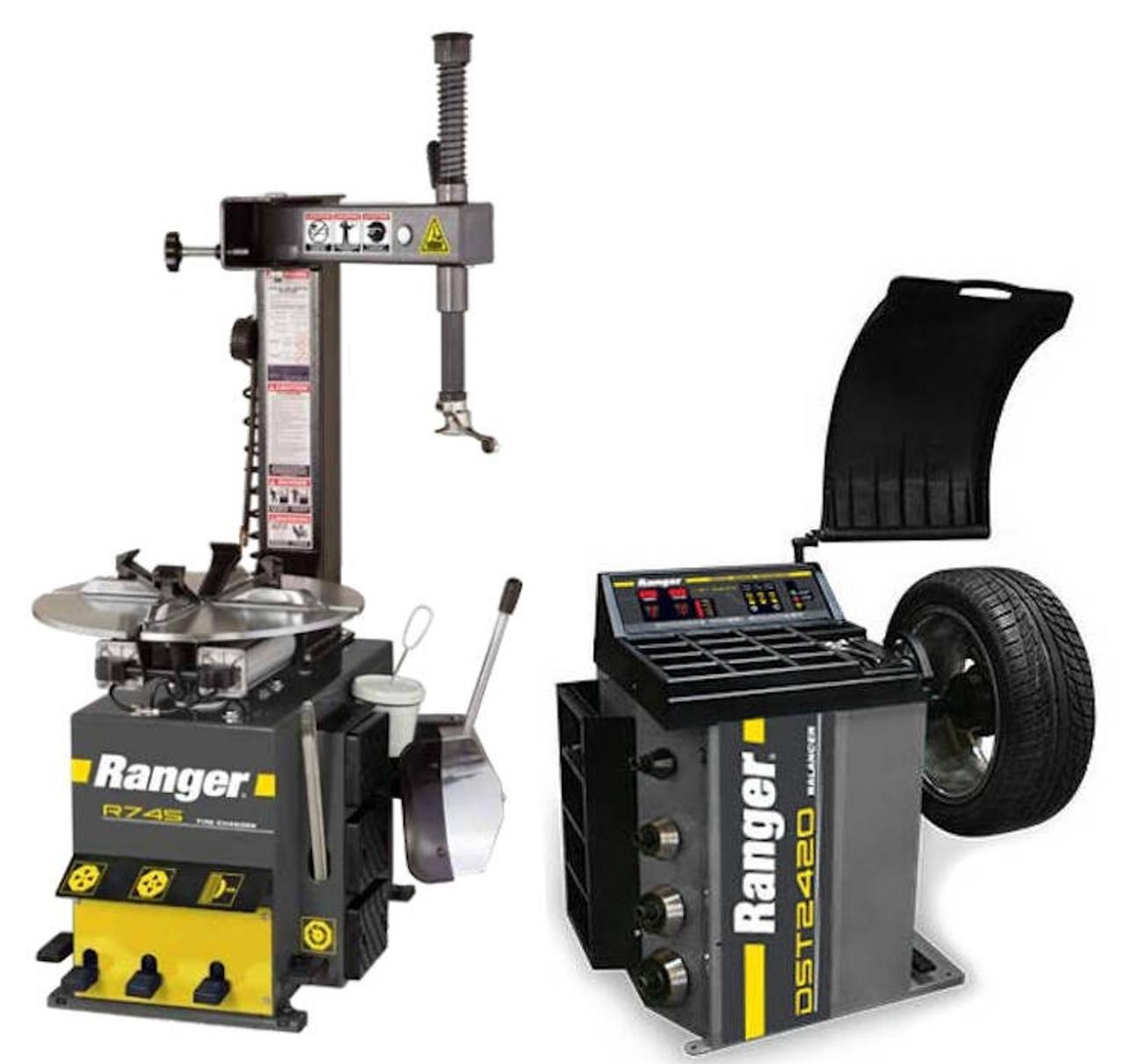 Ranger DST2420 Wheel Balancer and R745 Tire Changer Combo