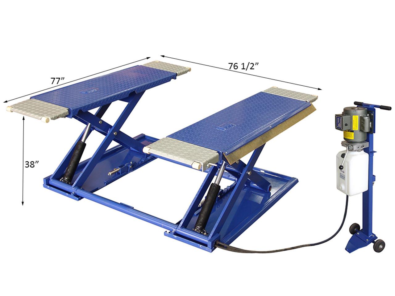 TUX MR6.5K-38 6,000 LB. Portable Mid-Rise Frame Lift