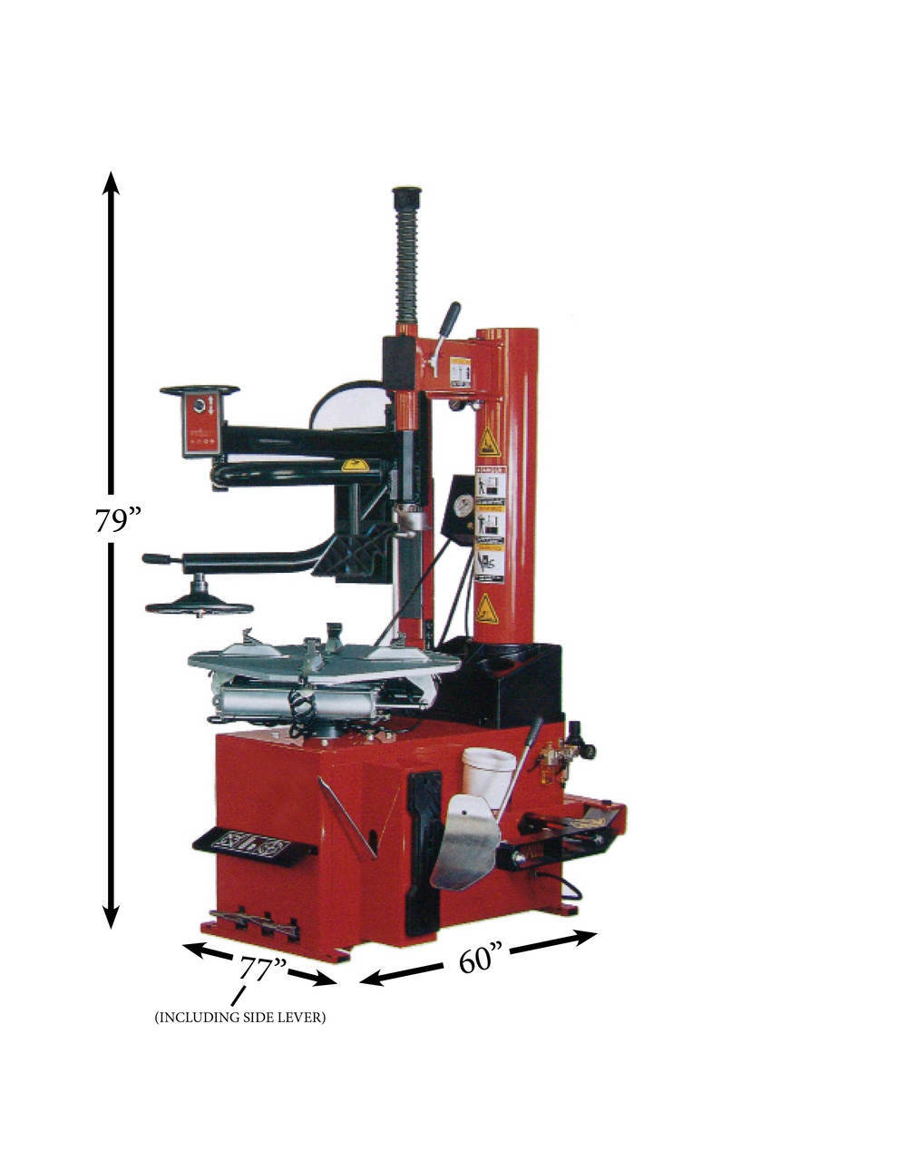 TUX TC-950-WPA High Performance Automatic Tire Changer with Press Arm