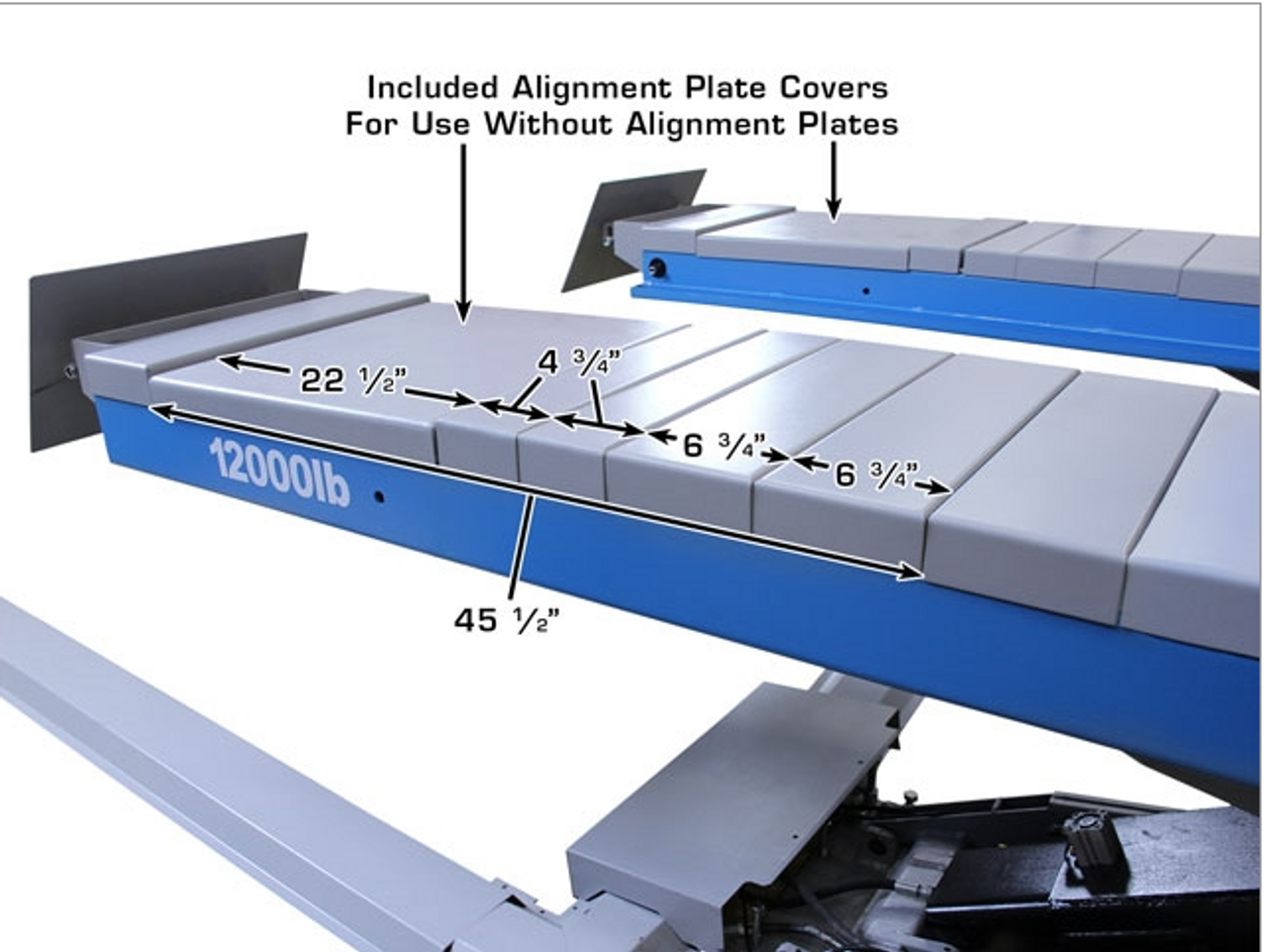 Atlas® 12ASL Commercial Grade Alignment Scissor Lift 12,000 lbs
