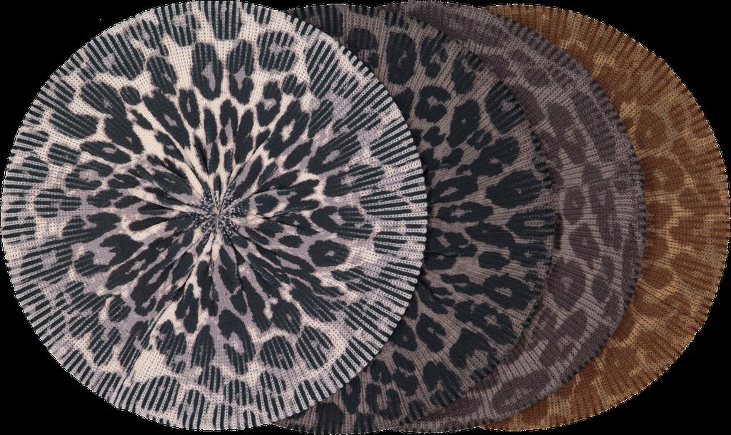 Knit Leopard Snood - Lined