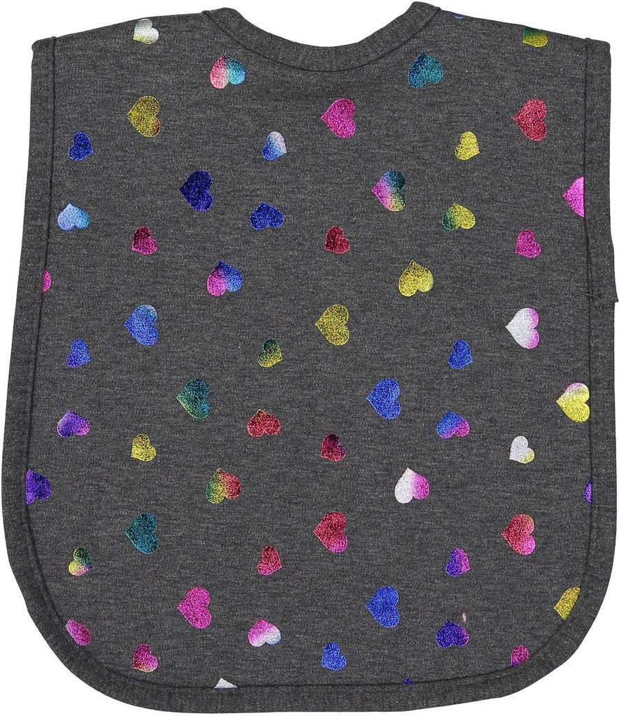 Foil Hearts Bib-BB13