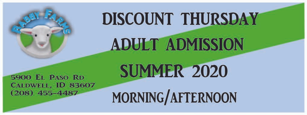 Discount Thursday Adult Admission