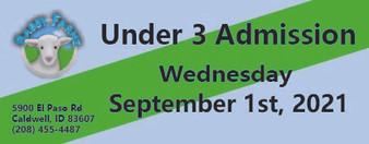 Babby Farms regular under 3 admission 9/1/2021