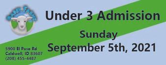 Babby Farms regular under 3 admission 9/5/2021