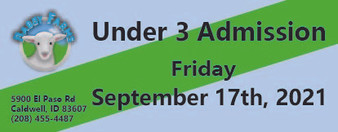 Babby Farms regular under 3 admission 9/17/2021