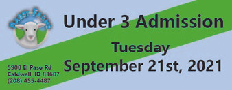 Babby Farms regular under 3 admission 9/21/2021