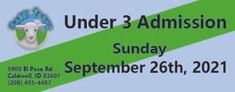 Babby Farms regular under 3 admission 9/26/2021