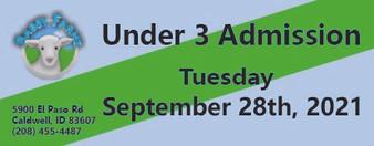 Babby Farms regular under 3 admission 9/28/2021